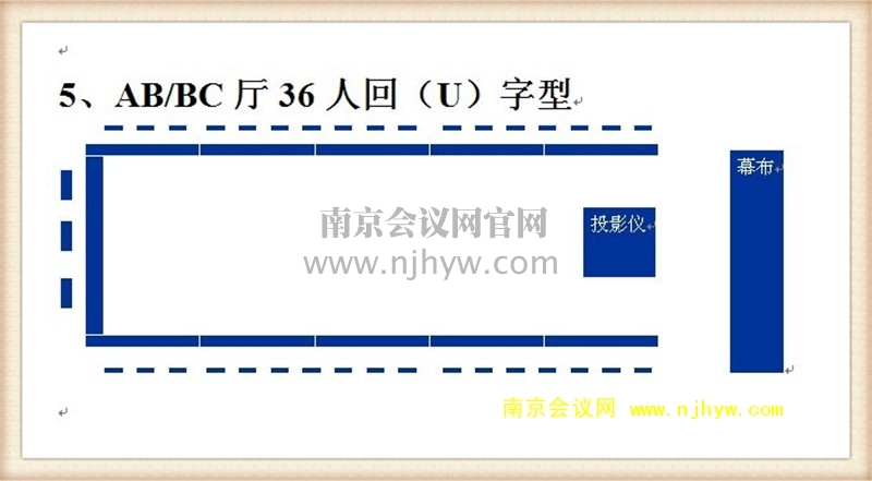 AB、BC厅36人回(U)字型