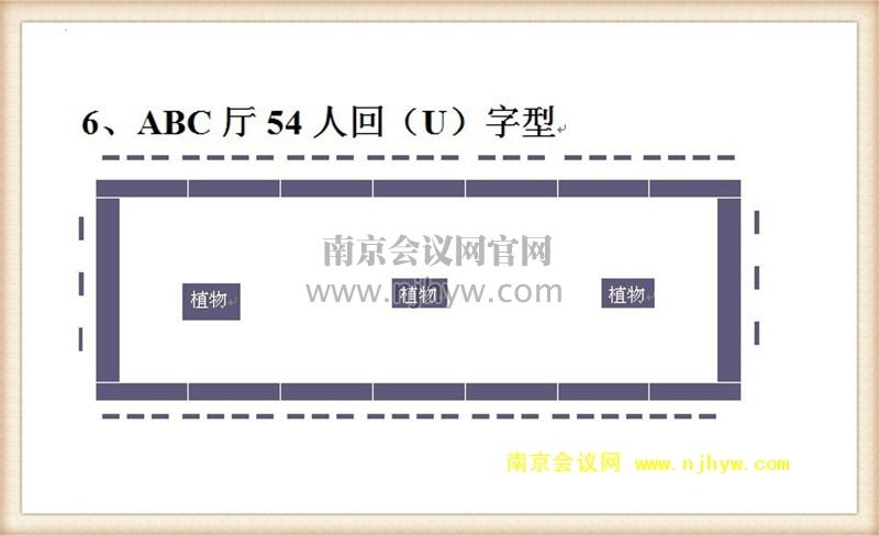 ABC厅54人回(U)字型