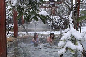 温泉雪景1